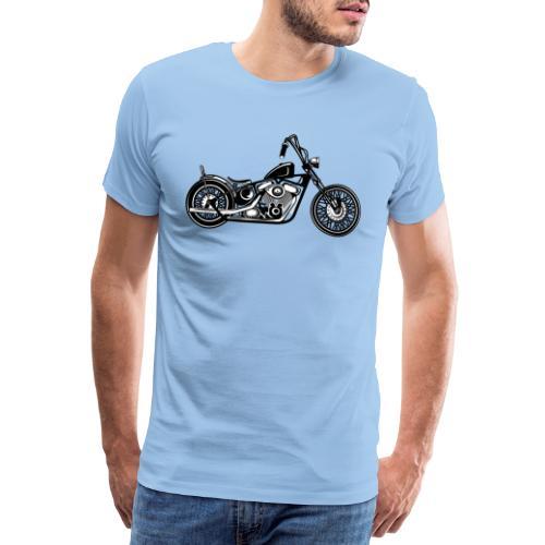 Motocicleta Chopper - Camiseta premium hombre