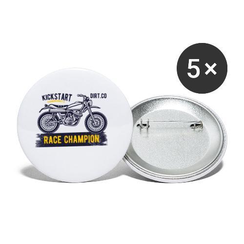 Super Cross - Paquete de 5 chapas pequeñas (25 mm)