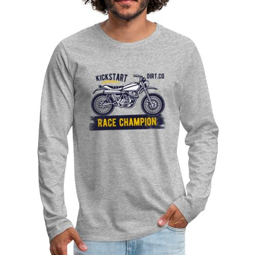 Super Cross - Camiseta de manga larga premium hombre