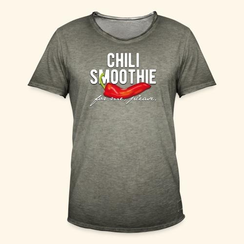 Chili Pepper T-Shirt Chili Smoothie - Männer Vintage T-Shirt