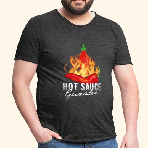 Hot Sauce Guzzler Chili T-Shirt  - Männer Vintage T-Shirt