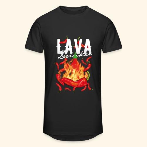 Chili T-Shirt Lava Drinker - gift idea! - Männer Urban Longshirt