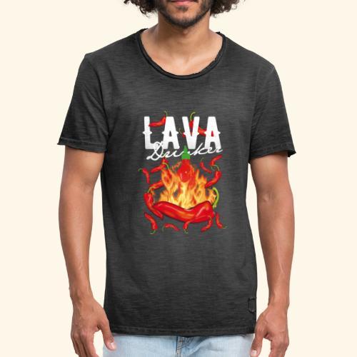 Chili T-Shirt Lava Drinker - gift idea! - Männer Vintage T-Shirt