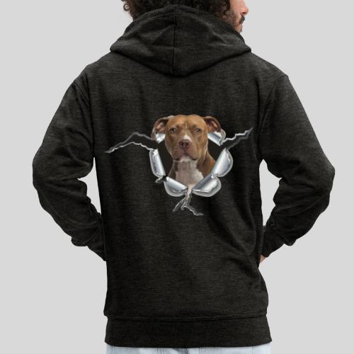 American Staffordshire Terrier *Metall-Loch* - Männer Premium Kapuzenjacke