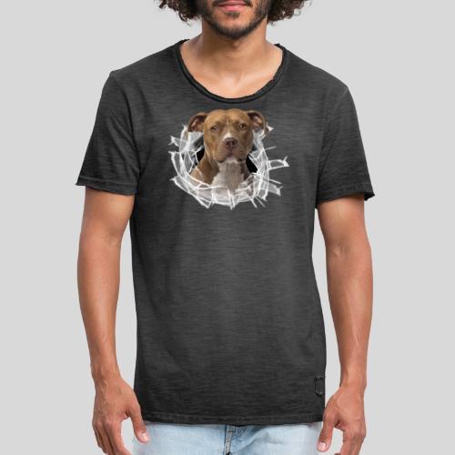 American Staffordshire Terrier *Glas-Loch* - Männer Vintage T-Shirt