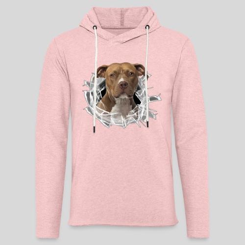 American Staffordshire Terrier *Glas-Loch* - Leichtes Kapuzensweatshirt Unisex