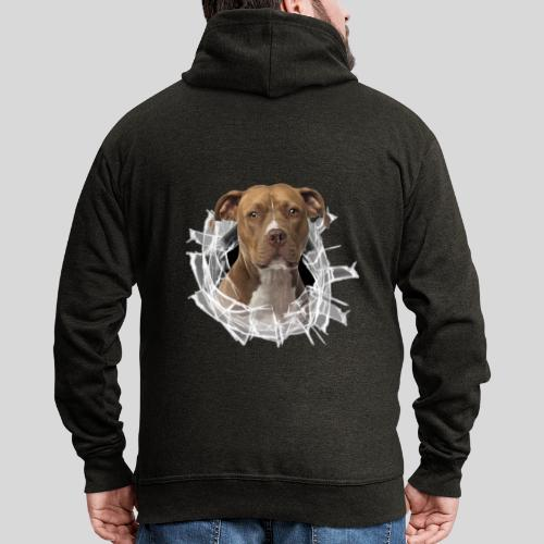 American Staffordshire Terrier *Glas-Loch* - Männer Premium Kapuzenjacke