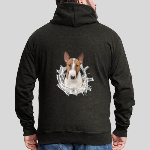 Bullterrier *Glas-Loch* - Männer Premium Kapuzenjacke