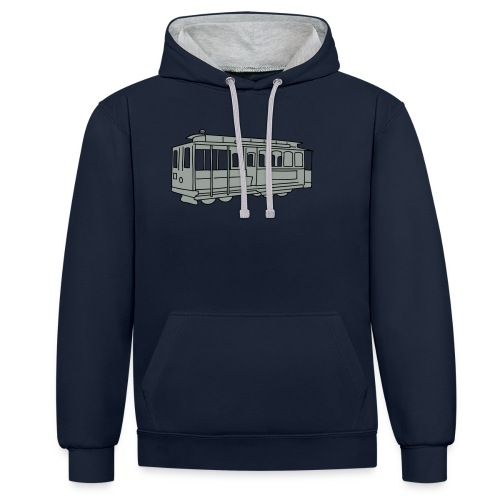 San Francisco Cable Car - Kontrast-Hoodie