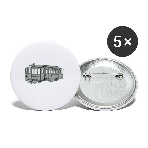 San Francisco Cable Car - Buttons mittel 32 mm (5er Pack)