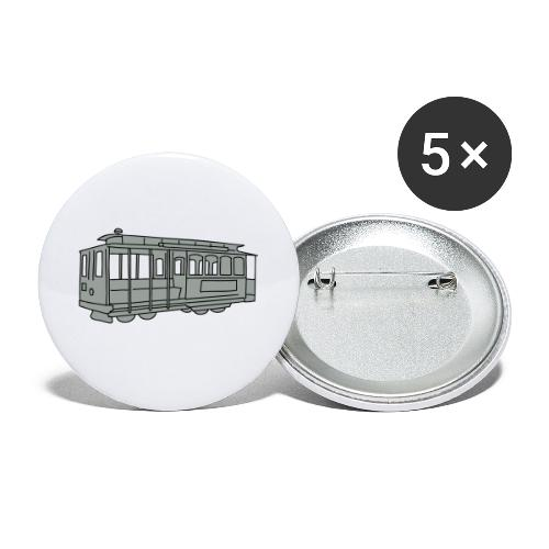 San Francisco Cable Car - Buttons klein 25 mm (5er Pack)