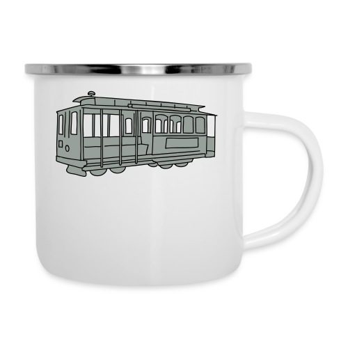 San Francisco Cable Car - Emaille-Tasse