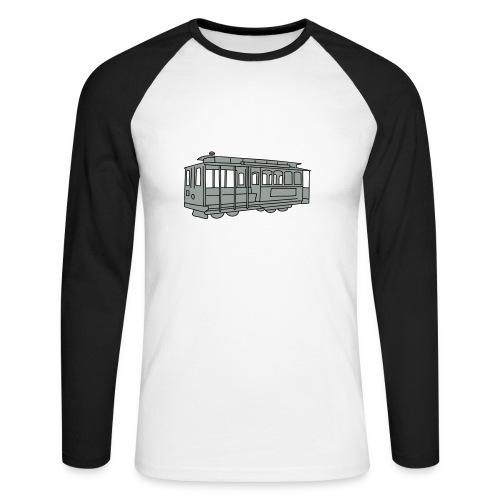 San Francisco Cable Car - Männer Baseballshirt langarm