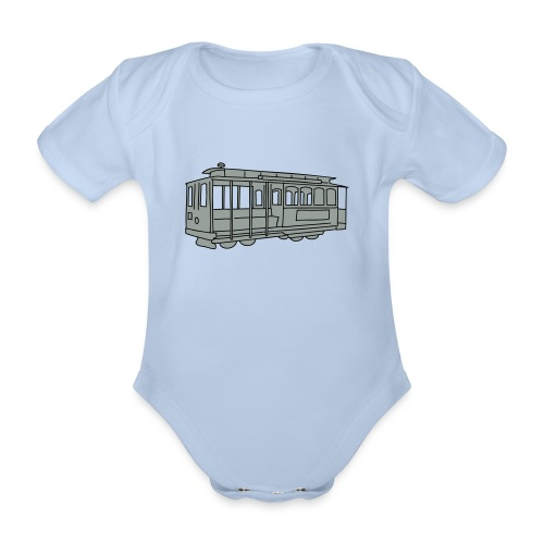 San Francisco Cable Car - Baby Bio-Kurzarm-Body