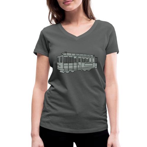 San Francisco Cable Car - Frauen Bio-T-Shirt mit V-Ausschnitt von Stanley & Stella