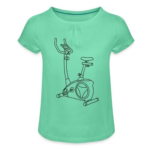 Heimtrainer Trimmdich-Rad - Mädchen-T-Shirt mit Raffungen