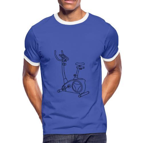 Heimtrainer Trimmdich-Rad - Männer Kontrast-T-Shirt