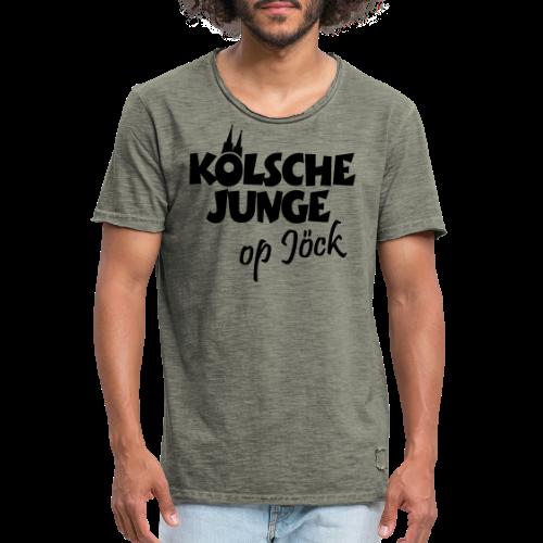 Kölsche Junge Op Jöck (Weiß) Jungs aus Köln Unterwegs - Männer Vintage T-Shirt
