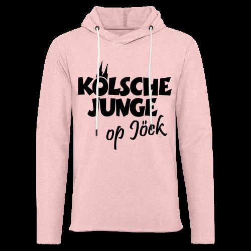 Kölsche Junge Op Jöck (Weiß) Jungs aus Köln Unterwegs - Leichtes Kapuzensweatshirt Unisex