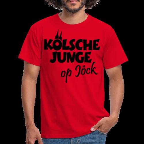 Kölsche Junge Op Jöck (Weiß) Jungs aus Köln Unterwegs - Männer T-Shirt