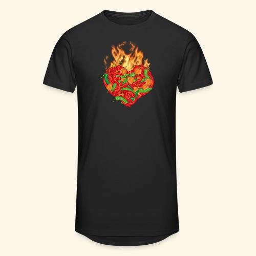 Geschenkidee für Chili Fans: Chili Heart T-Shirt - Männer Urban Longshirt