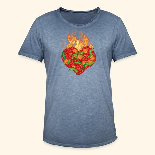 Geschenkidee für Chili Fans: Chili Heart T-Shirt - Männer Vintage T-Shirt