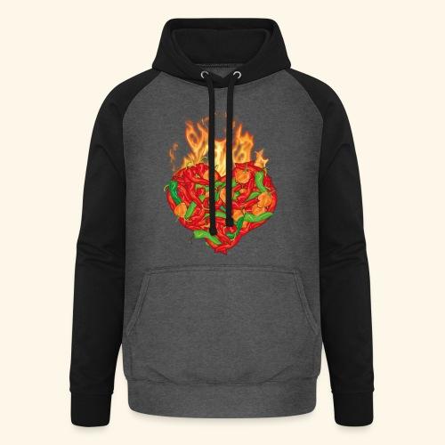 Geschenkidee für Chili Fans: Chili Heart T-Shirt - Unisex Baseball Hoodie