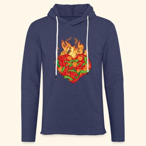 Geschenkidee für Chili Fans: Chili Heart T-Shirt - Leichtes Kapuzensweatshirt Unisex