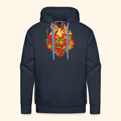 Geschenkidee für Chili Fans: Chili Heart T-Shirt - Männer Premium Hoodie