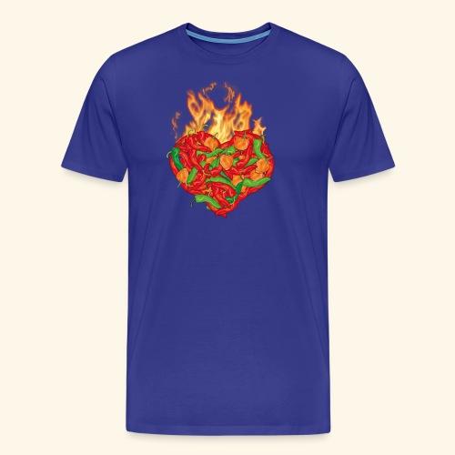Geschenkidee für Chili Fans: Chili Heart T-Shirt - Männer Premium T-Shirt