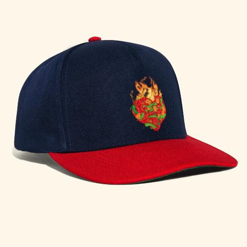 Geschenkidee für Chili Fans: Chili Heart T-Shirt - Snapback Cap