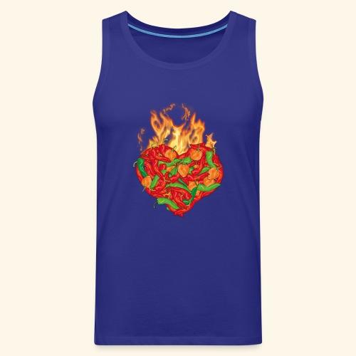 Geschenkidee für Chili Fans: Chili Heart T-Shirt - Männer Premium Tank Top