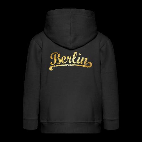 Berlin Classic (Vintage Goldgelb) - Kinder Premium Kapuzenjacke