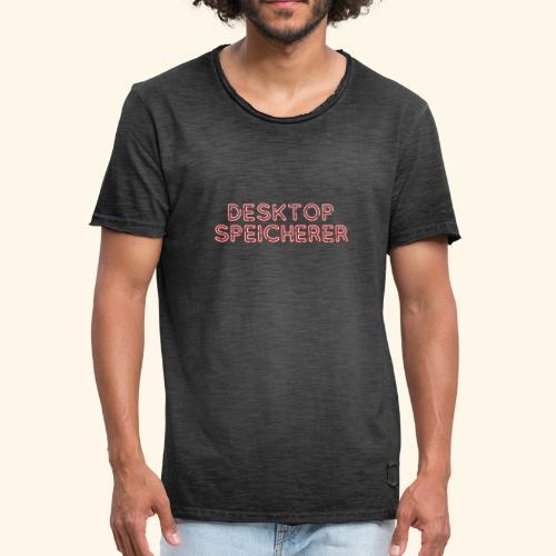 Lustiges Nerd-T-Shirt Desktopspeicherer - Männer Vintage T-Shirt