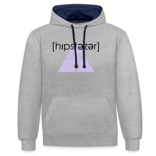 Hipstezer - Kreuz - Kontrast-Hoodie
