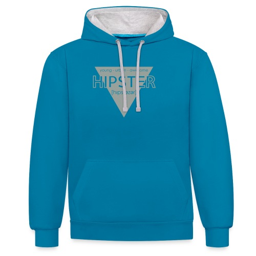 Hipstezer - Hipster - young - urban - awesome - Kontrast-Hoodie