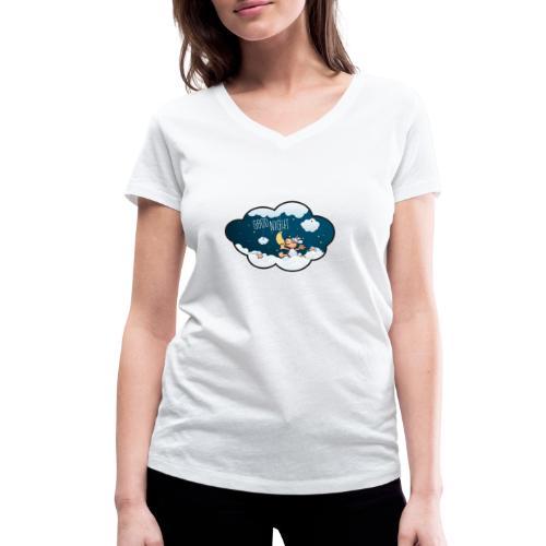 Gute Nacht Schafe zählen - Frauen Bio-T-Shirt mit V-Ausschnitt von Stanley & Stella