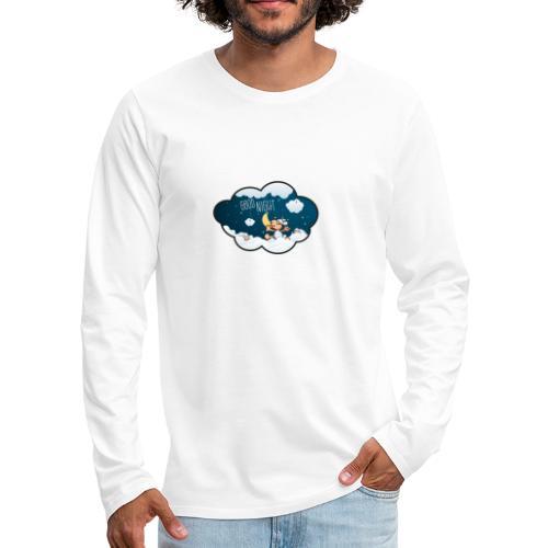 Gute Nacht Schafe zählen - Männer Premium Langarmshirt