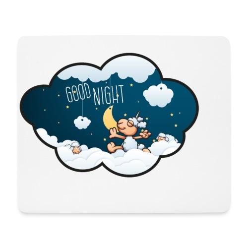 Gute Nacht Schafe zählen - Mousepad (Querformat)