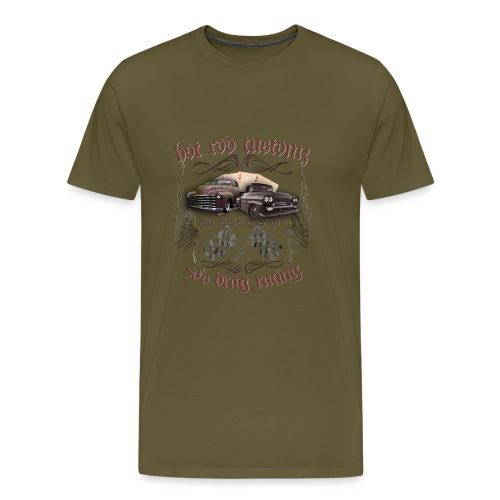 Hot Rod customs drag racing 50's - Männer Premium T-Shirt