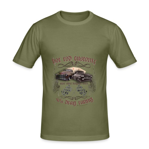 Hot Rod customs drag racing 50's - Männer Slim Fit T-Shirt