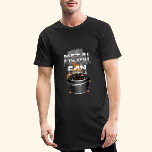 Grill-T-Shirt Dutch Oven Metal Fan - Männer Urban Longshirt