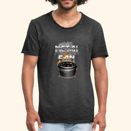 Grill-T-Shirt Dutch Oven Metal Fan - Männer Vintage T-Shirt