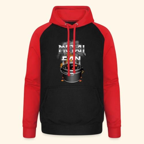 Grill-T-Shirt Dutch Oven Metal Fan - Unisex Baseball Hoodie