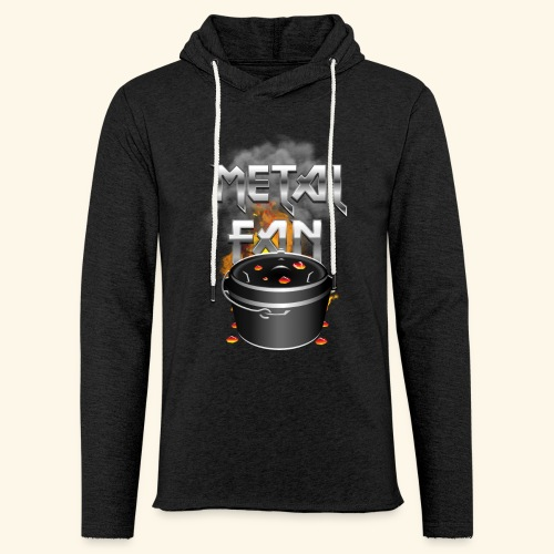 Grill-T-Shirt Dutch Oven Metal Fan - Leichtes Kapuzensweatshirt Unisex