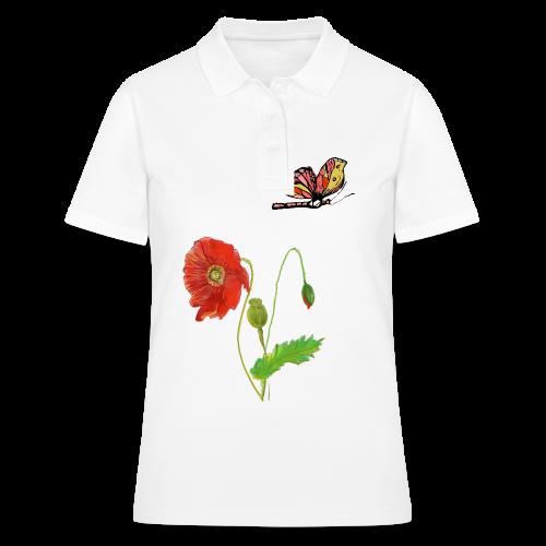 Mohnblumen und Schmetterling - Women's Polo Shirt