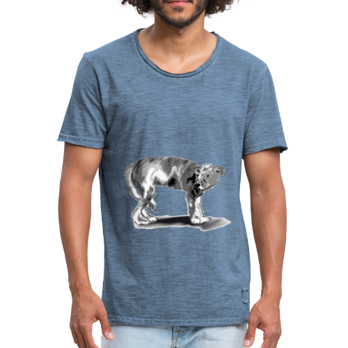Hund mit eingekniffenem Schwanz - Männer Vintage T-Shirt