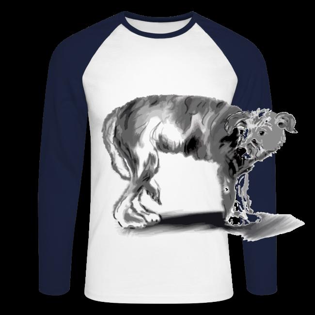 Hund mit eingekniffenem Schwanz