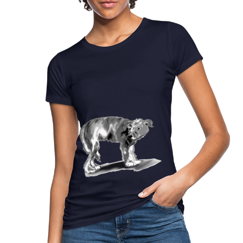 Hund mit eingekniffenem Schwanz - Frauen Bio-T-Shirt