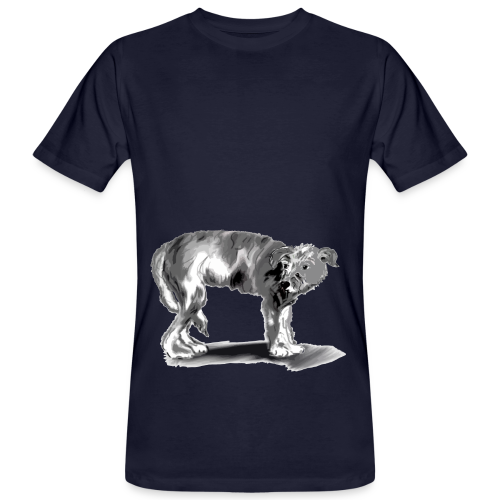 Hund mit eingekniffenem Schwanz - Männer Bio-T-Shirt